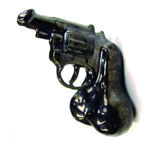 sculpture by marnika shelton that inspired the dick-gun dildo the nikita